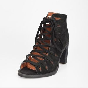 Jeffrey Campbell Black lace up booties
